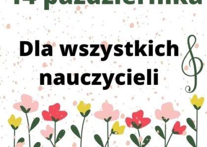 Thumbnail for the post titled: Piosenka dla nauczycieli